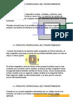 1.4 PRINCIPIO OPERACIONAL DEL TRANSFORMADOR