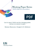 Mazzucato2016Lost in space_NASA and the changing publicprivate eco-system in space