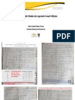 Supuestos del Modelo de regresión lineal Múltiple
