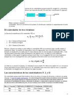 Sugerencias generales para el diseño del controlador PID