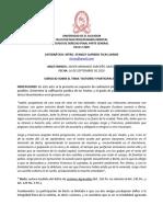 EJERCICIO SOBRE AUTORÍA Y PARTICIPACIÓN