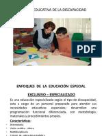 ENFOQUES DE LA EDUC. ESPECIAL