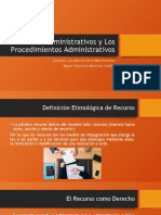 Los Recursos Administrativos y Los Procedimientos Administrativos