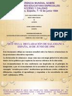 Conferencia Mundial Sobre N.E.E. Acceso y Calidad.pptx