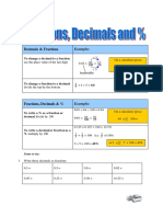 Fractions and Decimals Questions and Awnsers