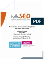 Recursos Intro al Marketing Online Por Eduardo Croissier Hello SEO - Comparte Marketing Enero 2011