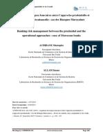 La gestion des risques bancaires entre l'approche prudentielle et l'approche opérationnelle  cas des Banques Marocaines.pdf