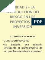 UNIDAD 2.- LA INTRODUCCION DEL RIESGO EN LOS PROYECTOS DE INVERSIONok