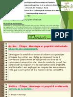 Cours N°1 - Ethique et Deontologie - Master 1 - Structure- VOA