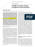 Assessing Vulnerability to Climate Change the Link Between Objectives and Assessment