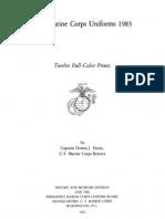 Marine Corps Uniforms 1983