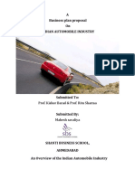 Automobile Car Industry Proposal