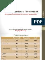DECLINACIÓN DEL PRONOMBRE PERSONAL