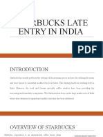 STARBUCKS LATE ENTRY IN INDIA