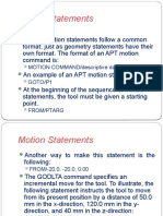 Lecture 7_Computer Assisted Part Programming_Motion Statements
