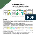 The Quantization of the Ugaritic Alphabet