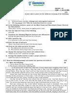 VIII  English Que Paper 3.1,3.2,3.3,3.4