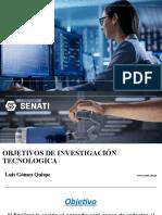 7. OBJETIVOS DE LA INVESTIGACIÓN TECNOLOGICA