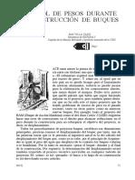 CONTROL DE PESOS DURANTE LA CONSTRUCCIÓN DE BUQUES
