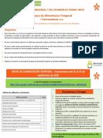 -PRESENTACIÓN I CONVOCATORIA DE APOYO DE ALIMENTACIÓN TEMPORAL 2020