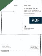 Lapesa - Historia de la lengua espaĄola