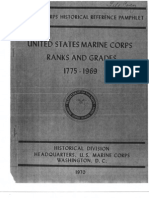 United States Marine Corps Ranks and Grades 1775-1969