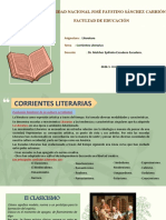 CORRIENTES LITERARIAS( el clasicismo)