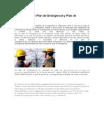 Diferencia entre Plan de Emergencia y Plan de Contingencia
