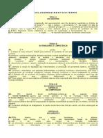 MODELO DE REGIMENTO INTERNO