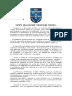 HISTORIA DEL COLEGIO DE INGENIEROS DE VENEZUELA