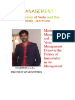 Management Expression of Veda and the Vedic Literature