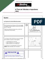 Ajuste del Tren de Válvulas e Inyectores (Método de Recorrido)