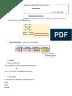 Matemática - Fichas numeros decimais