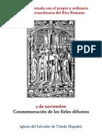 2 de Noviembre. Conmemoración de Los Fieles Difuntos. Propio y Ordinario de la santa misa