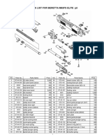 WA Beretta M92FS Elite 2 Parts List