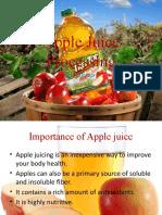 Apple Juice Processing report