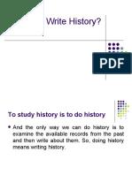 Why Write History