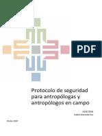 Protocolo de Seguridad para Antropólogas y Antropólogos en Campo - Colectivo Tardes Etnográficas