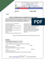 Devoir te correction français 3AM T1 2017