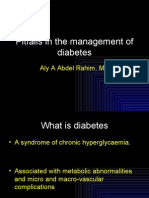 pitfalls in the managenet of diabetes