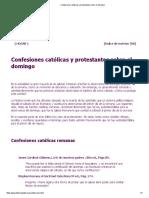 Confesiones católicas y protestantes sobre el domingo