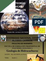 1)CLASE 1 ORIGEN Y TEORIAS INORGANICAS Y ORGANICAS DE LOS HIDROCARBUROS (1)
