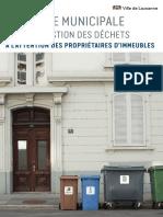 830.4 - Directive municipale pour la gestion des déchets à l'attention des propriétaires d'immeubles