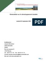 Generalités développement durable