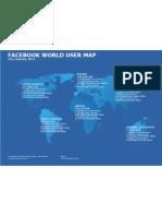 Facebook Worldmap 2011 January 22nd