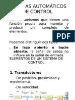 SISTEMAS AUTOMÁTICOS DE CONTROL