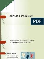 MORAL Y DERECHO