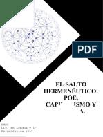 EL SALTO HERMENÉUTICO