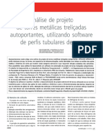 94 Análise de Projeto de Torres Metálicas Treliçadas Autoportantes, Utilizando Software de Perfis Tubulares de Aço