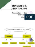 PERENNIALISM & ESSENTIALISM- Elda Nursyarafina